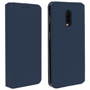 Flip Kunstleder Cover Geldbörse Classic Edition OnePlus 6T - Blau