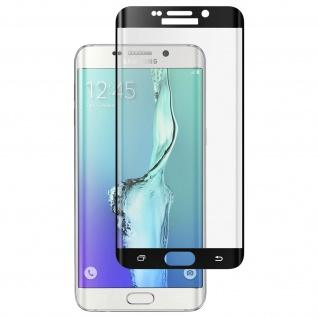 Displayschutzfolie Hartglas abgerundete Ecken für Galaxy S6 Edge Plus - Schwarz