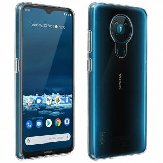 Nokia 5.3 Schutzhülle Silikon Second Skin Imak - Transparent