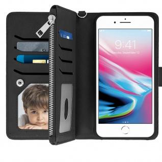 Apple iPhone 6Plus/6S Plus/7 Plus/8 Plus Klappetui mit abnehmbarer Hülle-Schwarz