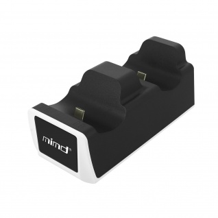 PS5 Controller-Ladestation, Dual USB-C 2A Ausgang mit LED - Schwarz