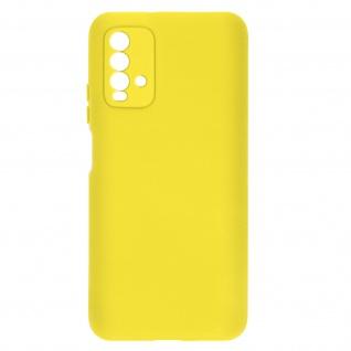Halbsteife Silikon Handyhülle für Xiaomi Redmi 9T, Soft Touch ? Gelb