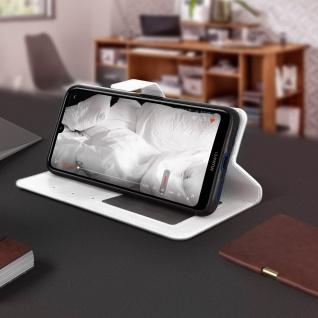 Flip Stand Cover Brieftasche & Standfunktion für Huawei Y7 2019 - Weiß - Vorschau 4