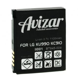 1000 mAh Ersatzakku passend für LG KC910, LG KU990 - Weiß