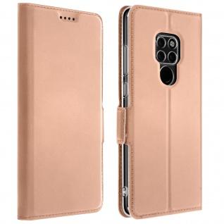 Flip Cover, Klappetui mit Kartenfach & Standfunktion Huawei Mate 20 Rosegold