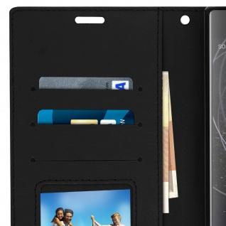 Flip Stand Cover Brieftasche & Standfunktion Sony Xperia XA2 Plus - Schwarz - Vorschau 5