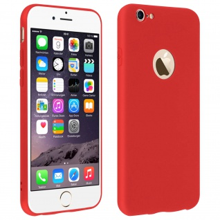 Forcell Apple iPhone 6, iPhone 6S Soft Touch Silikonhülle, soft case ? Rot