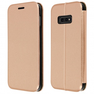 Klapphülle für Samsung Galaxy S10e, Soft Touch Cover - Rosegold