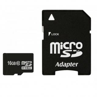 Micro-SD Karte 16 GB - Speicherkarte + Adapter