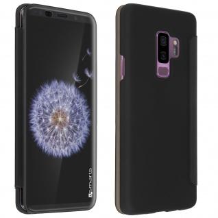 4Smarts Flip-Cover Kyoto transparente Frontklappe Galaxy S9 Plus - Schwarz