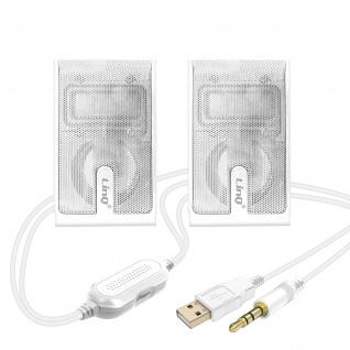 LinQ A2035 3, 5 mm kabelgebundener Lautsprecher 3 W x 2 â€? Weiß