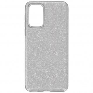 Schutzhülle, Glitter Case für Samsung Galaxy A72, shiny & girly Hülle â€? Silber