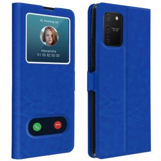 Samsung Galaxy S10 Lite Flip Cover Doppelfenster & Standfunktion � Blau