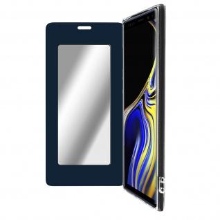 Spiegel Hülle, dünne Klapphülle für Samsung Galaxy Note 9 - Dunkelblau