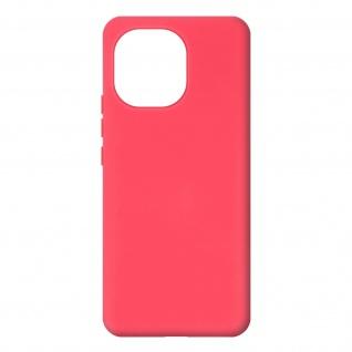Halbsteife Silikon Handyhülle für Xiaomi Mi 11 5G, Soft Touch ? Fuchsienrot