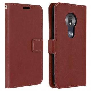 Flip Stand Cover Brieftasche & Standfunktion für Motorola Moto G7 Play - Braun