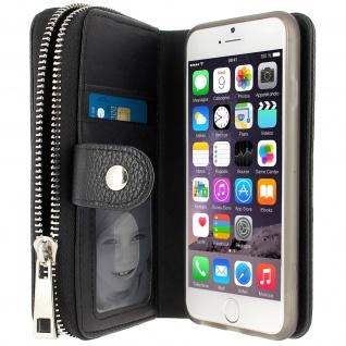 Brieftasche + Magnetische Schutzhülle für Apple iPhone 6 und iPhone 6S ? Schwarz