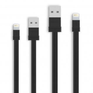 2x iPhone/iPad Stecker auf USB Kabel, 0, 16m + 1m, Aufladen&Sync, Remax - Schwarz
