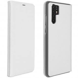 Flip Book Cover, Klappetui aus Kunstleder für Huawei P30 Pro - Weiß