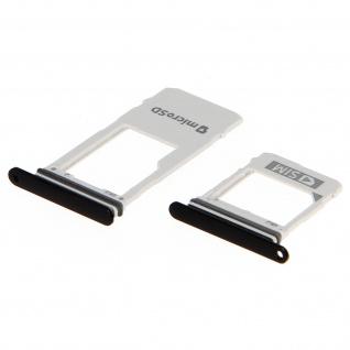Nano SIM-Kartenhalter + Micro-SD Kartenhalter Schwarz für Samsung Galaxy A8 2018