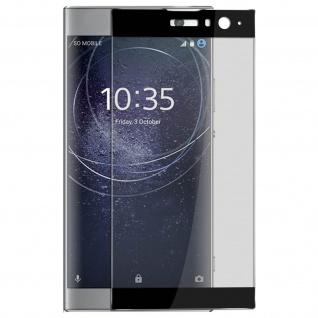 9H kratzfeste bruchsichere Glas-Displayschutzfolie für Xperia XA2 - Rand Schwarz