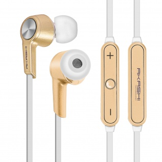 Bluetooth HD-Audio in-ear Magnetic Kopfhörer by Akashi - Gold