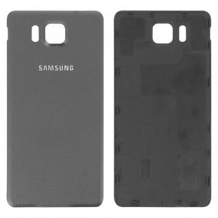Ersatzteil Akkudeckel, neue Rückseite für Samsung Galaxy Alpha - Grau