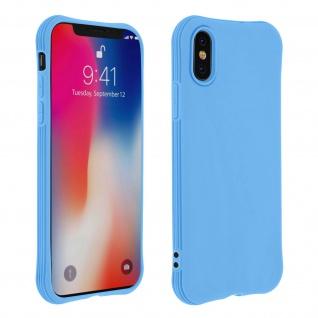 Flexible iPhone X / XS Silikon Bumper Hülle, stoßfest â€? Blau
