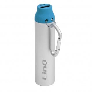 Powerbank / Externer Akkupack USB 1A 3380mAh LinQ - Silber / Blau