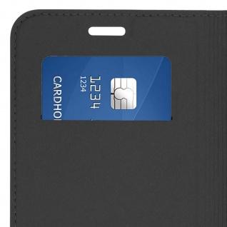 Flip Cover, Klappetui mit Kartenfach & Standfunktion für Galaxy J6 Plus Schwarz - Vorschau 4