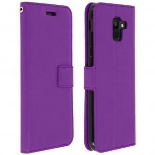 Flip Cover Stand Case Brieftasche & Standfunktion Samsung Galaxy A6 - Violett