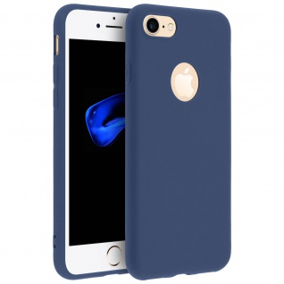 Forcell Apple iPhone 7, iPhone 8 Soft Touch Silikonhülle, soft case - Dunkelblau
