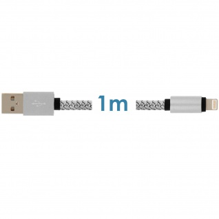 iPhone/iPad/USB-Kabel Silber ? Moxie ? Aufladen & Synchronisierung - Vorschau 4