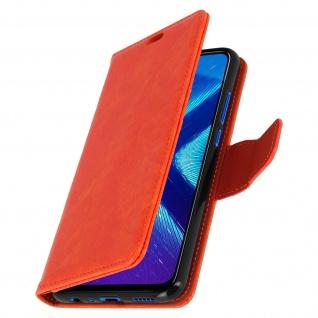 Flip Stand Cover Brieftasche & Standfunktion Huawei Honor 8X - Orange - Vorschau 2