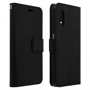 Flip Stand Case Brieftasche & Standfunktion für Galaxy Xcover Pro - Schwarz