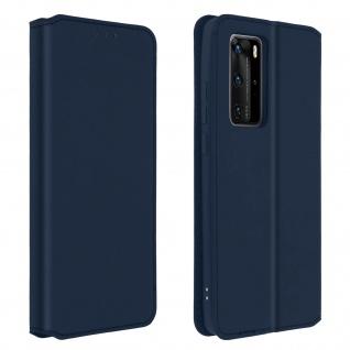 Kunstleder Cover Classic Edition Huawei P40 Pro ? Blau