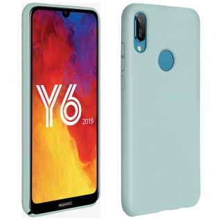 Halbsteife Silikon Handyhülle Huawei Y6 2019, Soft Touch - Grün