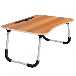 Betttisch für Laptops / Smartphones /Tablets, Höhe 26cm klappbare Füße â€? Holz