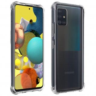 Flexible Samsung Galaxy A51 5G Silikon Bumper Hülle, stoßfest - Transparent