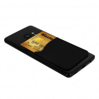 Klebendes Kartenfach, Universal Fach für Smartphones/Tablets ? Schwarz