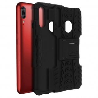 Stoßfeste Schutzhülle + Standfunktion für Motorola Moto E6 Plus ? Schwarz