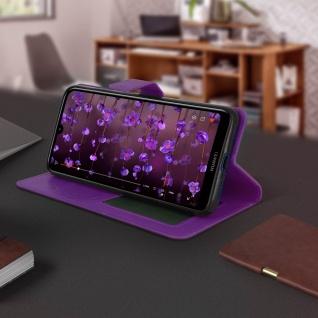 Flip Stand Cover Brieftasche & Standfunktion für Huawei Y7 2019 - Violett - Vorschau 4