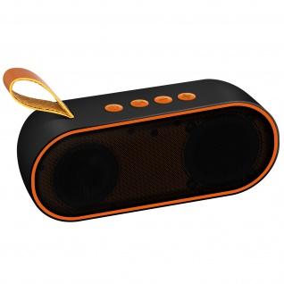 Bluetooth-Lautsprecher 3W, 10 Std. Akkulaufzeit, 3, 5 mm MicroSD-Eingang � Orange