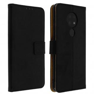 Soft Touch Flip-Cover Geldbörse mit Standfunktion Nokia 6.2 / 7.2 - Schwarz