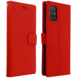 Samsung Galaxy A71 Flip-Cover mit Kartenfächern & Standfunktion â€? Rot