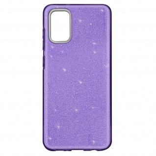 Schutzhülle, Glitter Case für Samsung Galaxy A02s â€? Violett