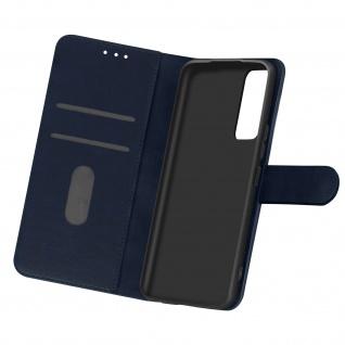 Flip Cover Geldbörse, Etui Kunstleder für Samsung Galaxy A02s â€? Dunkelblau