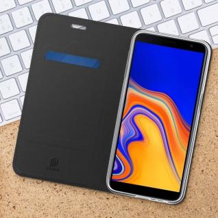 Flip Cover, Klappetui mit Kartenfach & Standfunktion für Galaxy J6 Plus Schwarz - Vorschau 3