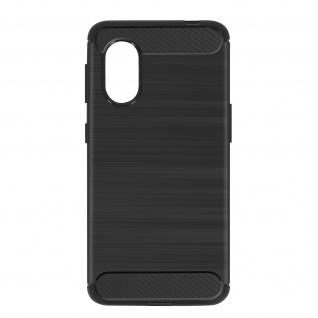 Samsung Galaxy Xcover 5 Schutzhülle mit Aluminium und Carbon Design ? Schwarz