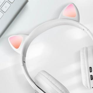 Katzenohren kabellose 5.0 Bluetooth Kopfhörer, Kitty Headset ? Weiß - Vorschau 3